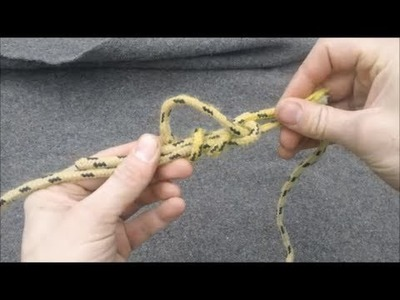 How to tie a sheet bend and double sheet bend knot
