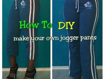 How To:Turn pants into JOGGER PANTS DIY. IB_JackieNicole