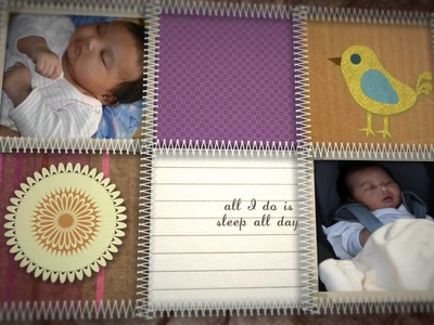 Kourtney Baby Montage (After Effects Baby Scrapbook)
