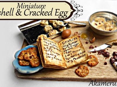 Miniature egg, eggshells, and cracked egg tutorial - Miniature baking scene