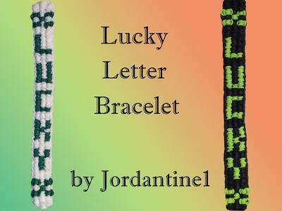 New Lucky Letter Bracelet - Rainbow Loom or Monster Tail - St. Patrick's Day Clover Name