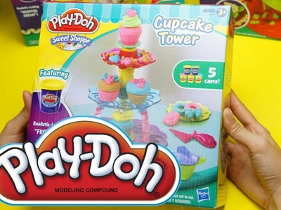 Play Doh Cupcake Tower Sweet Shoppe Unboxing & Testing