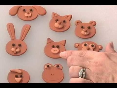 Polymer Clay Animal Faces Part 2