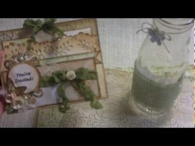 "Prima's ""Nature Garden"" Birthday Invites and altered Starbucks bottles!"