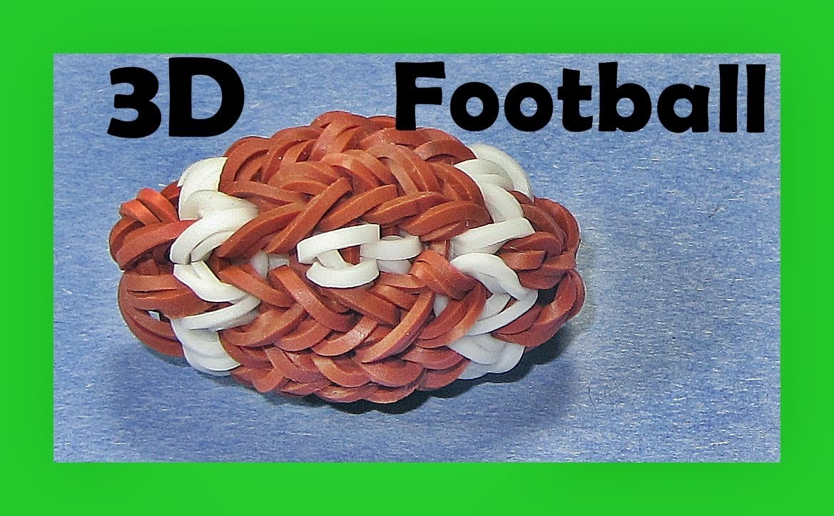 Rainbow Loom Charms -  New 3D Football (DIY Mommy, Sports, Doll Accessories)