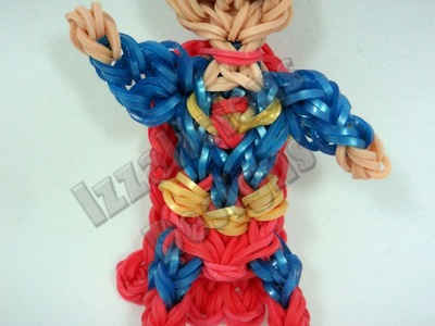 Rainbow Loom Superman Charm.Action Figure - Gomitas