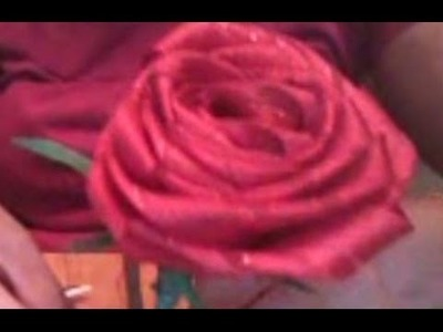 Ribbon Rose DIY - How To Make A Long Stem Ribbon Rose