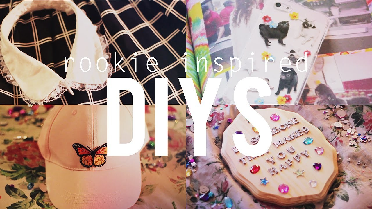 Rookie Inspired. DIYS (Sticker Phone Case, Lace Collar, Jeweled Plaque, Candles, Butterfly Hat)