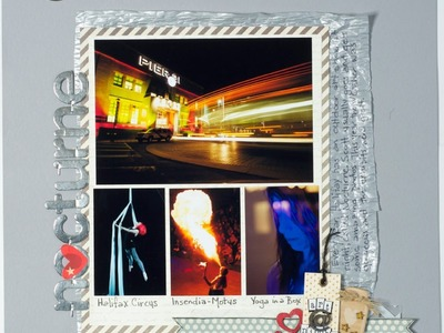 Scrapbooking Process: Nocturne Art at Night