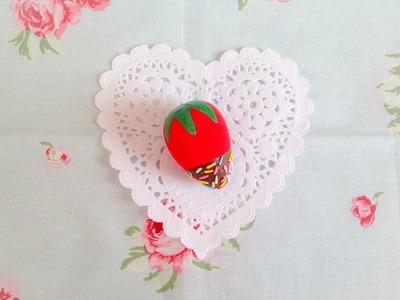 Squishy Tutorial: Chocolate Dipped Strawberry ♡