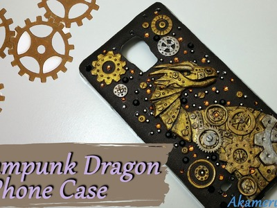 Steampunk Dragon Phone Case - Polymer Clay Tutorial. Collab with NerdECrafter