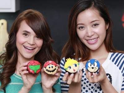 SUPER SMASH BROS CUPCAKES ft. Michelle Phan - NERDY NUMMIES