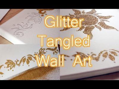 Tangled wall art {D.I.Y}