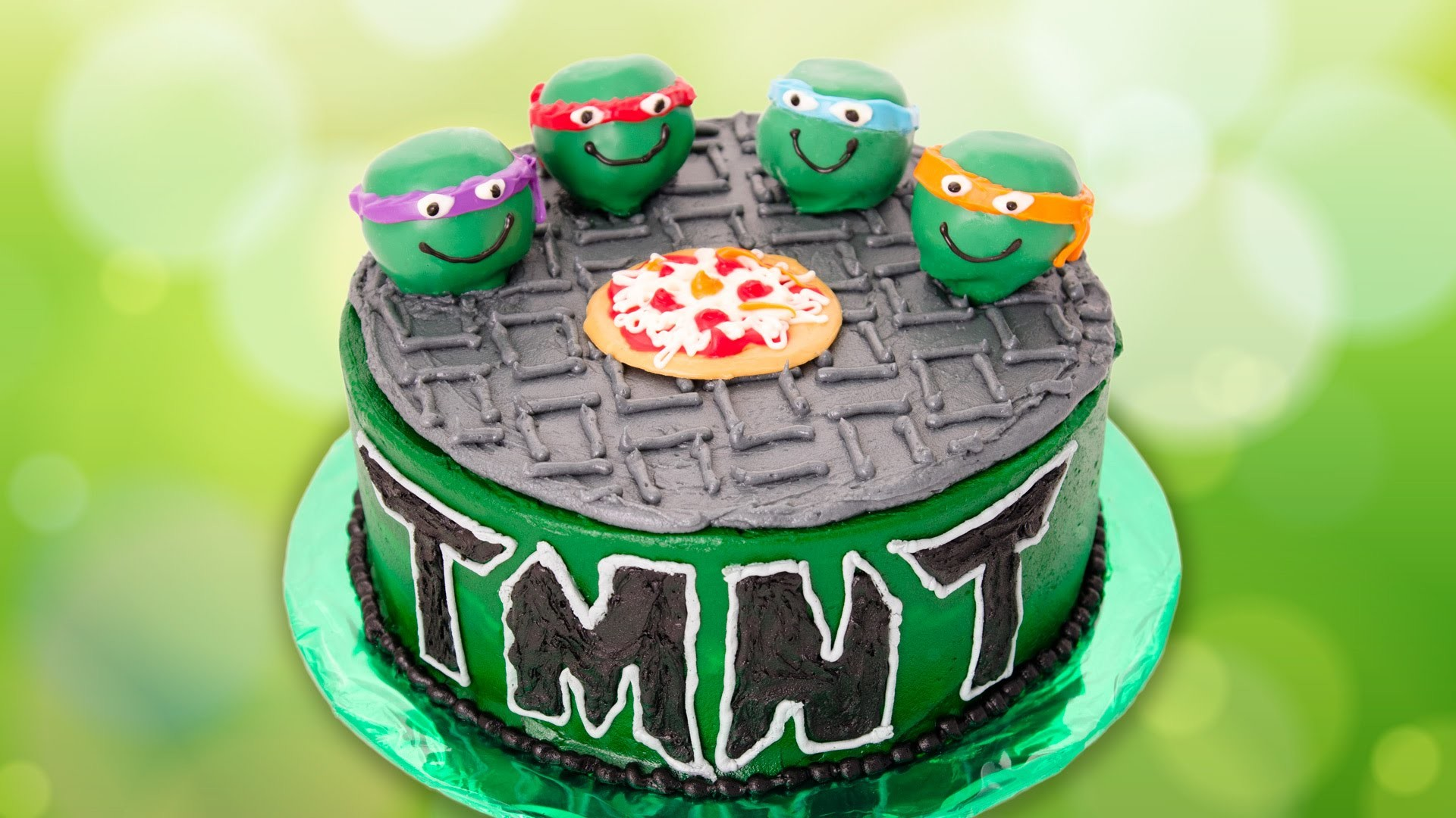Teenage Mutant Ninja Turtles Cake from Cookies Cupcakes and Cardio