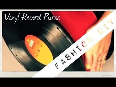 Vinyl Record Purse DIY