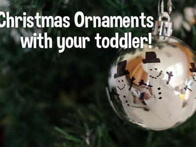 10 DIY Christmas Ornaments - Toddler friendly!
