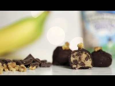 Chunky Monkey Ice Cream Bonbons Recipe | Just Add Sugar