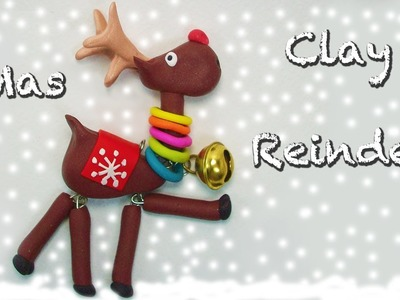 Clay reindeer Christmas tutorial - Reno navideño en porcelana fría - Renna in Fimo