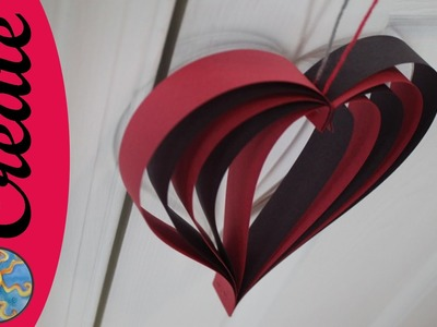 Craft Activity for kids : Hanging Heart for your valentine