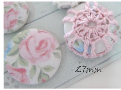 Crochet 27mm Daiso Button cover-Tutorial