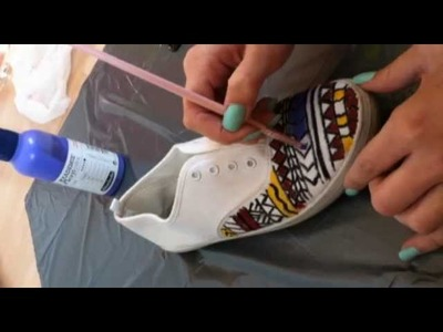 DIY#2 aztecprinted shoes