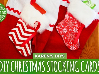 DIY Christmas Stocking Cards - HGTV Handmade