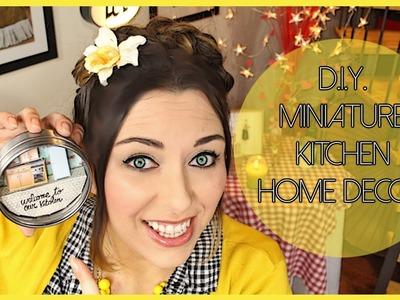 D.I.Y. Miniature Kitchen home decor - Decorazione fai da te con cucina in miniatura