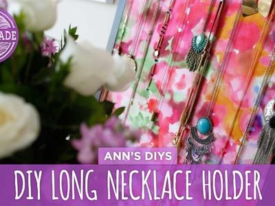 DIY Necklace Holder for Long Necklaces - HGTV Handmade