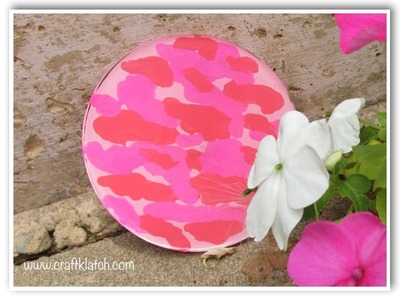 DIY Pink Camo Coaster   Another Coaster Friday