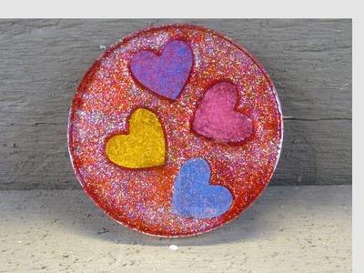 DIY Valentine's Day Heart Coaster   Another Coaster Friday
