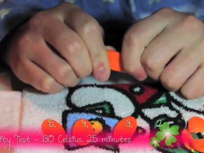 Du-Kit Polymer Clay flexibility Tests - Test 4 and 5 : 120 and 130 Celsius