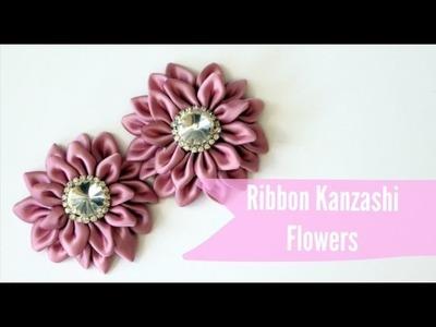 Easy Kanzashi Ribbon Flower Tutorial
