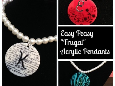 Easy Peasy Acrylic Pendants and Rubber Stamping with Stazon Ink