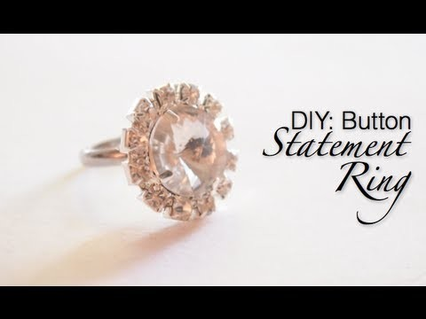 GLITTER 'N GLUE: We Survived Valentines Day (YEA!) plus How To Make a Ring Out Of A Button