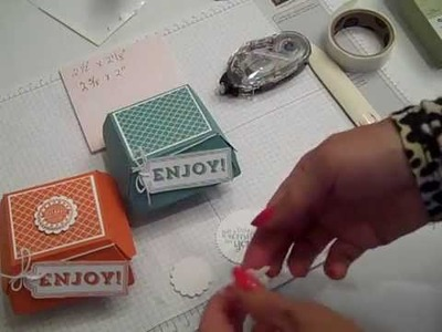 Hamburger Box Die by Stampin' UP! Easy Assembly Tips