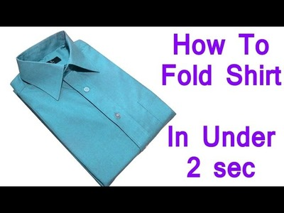 How To Fold a Shirt in 2 seconds