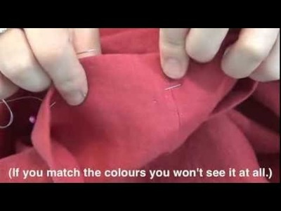 How to hem trousers and skirts