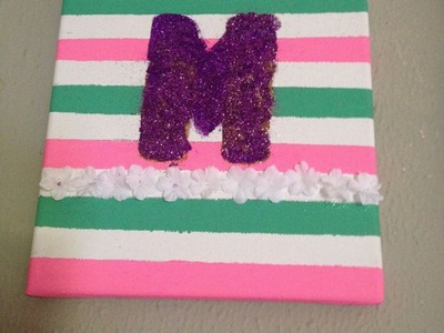 How to make Customized  Initial Canvas Art