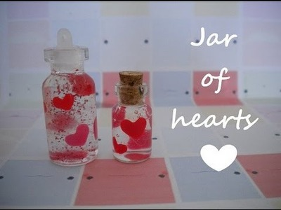 Jar of hearts miniature bottle charm