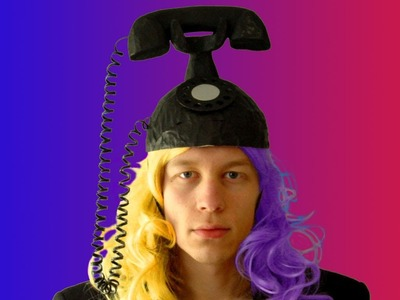 Lady Gaga Black Telephone Hat ☎ Sire Sasa tutorial 44