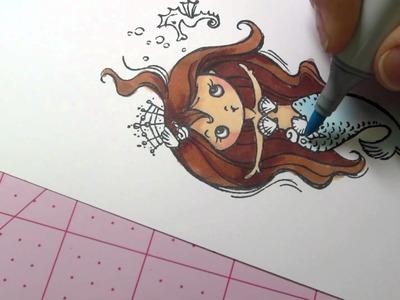 Mermaid coloring tutorial
