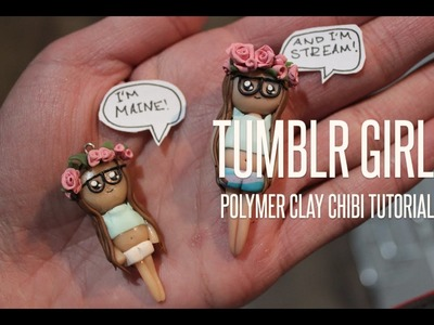 Polymer clay Tumblr girl tutorial   MichelGervaisArt