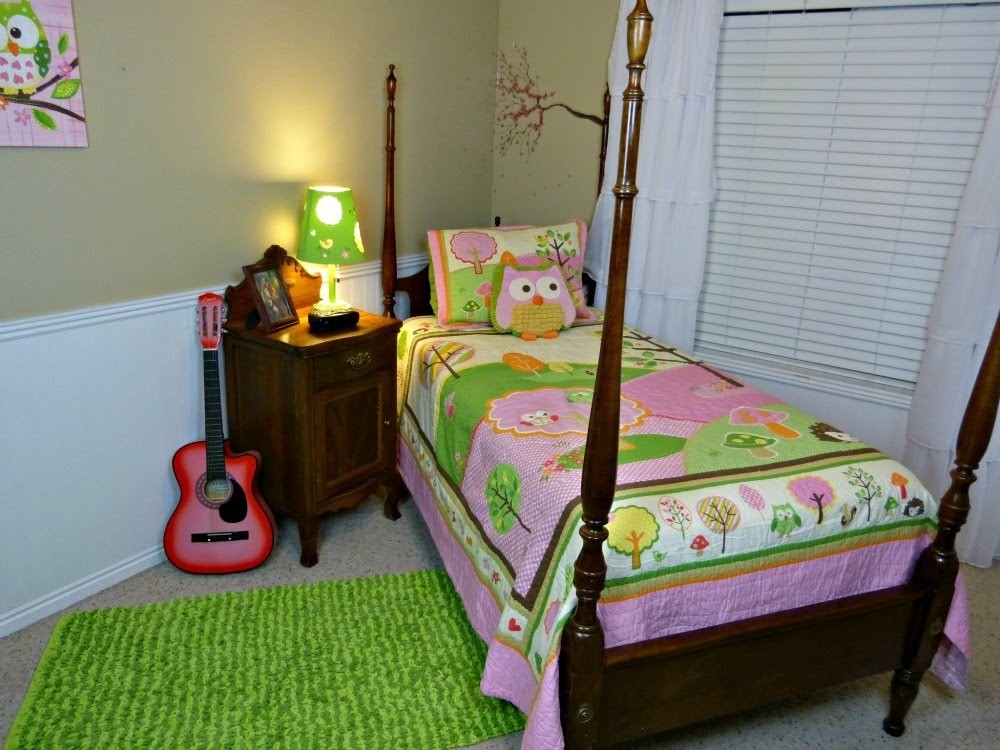Room Tour, Girls Bedroom Makeover and Reveal, Cute Owl Theme