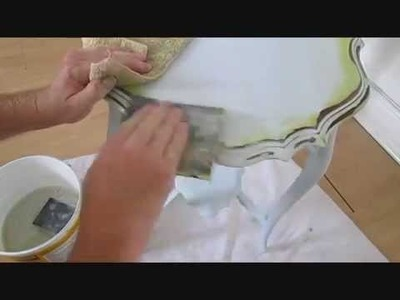 Shabby chic, how to hand paint furniture, tutorial, step by step