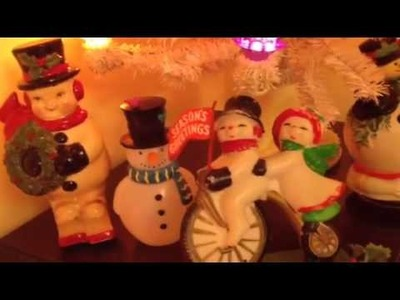 Some of my antique and vintage Christmas decorations