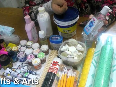 Tools to make the polymer clay, cold porcelain , fimo clay,salt clay,paper clay