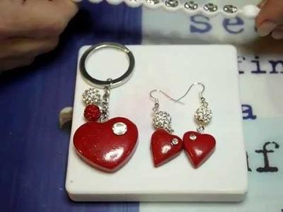 Tutorial orecchini fimo cuore. polymer clay tutorial: heart earrings