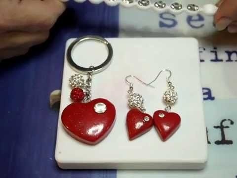 Tutorial orecchini fimo cuore. polymer clay tutorial: heart earrings