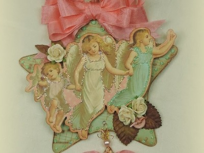 Victorian Vintage Christmas Paper Angel Ornaments (Part One)