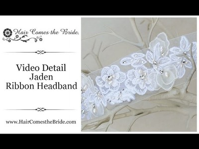 Bridal Hair Accessories and Jewelry ~ Jaden Vintage Ribbon Headband